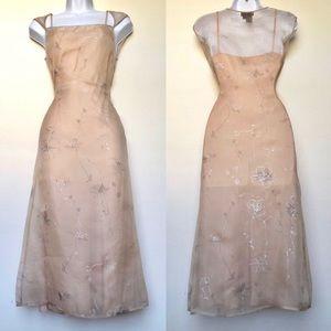 BCBGMAXAZRIA⚡️2 Layers Semi Sheer Silks Dress_4